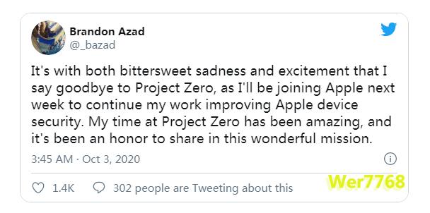 挖墙脚!苹果挖走谷歌iPhone黑客团队一名重要成员